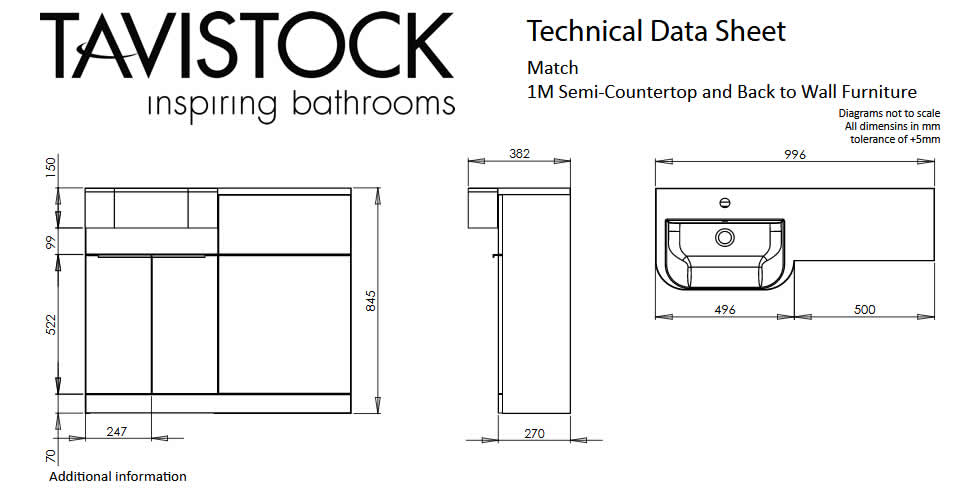 Tavistock Match Technical Specification Drawing