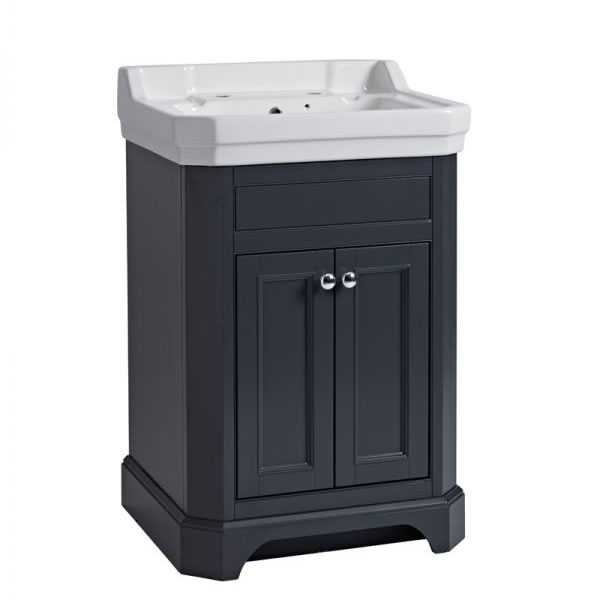 Tavistock Vitoria 600 Freestanding Unit Matt Dark Grey
