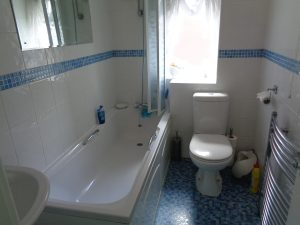 Bathroom on Hepworth Rd Binley Coventry before the bathroom renovation