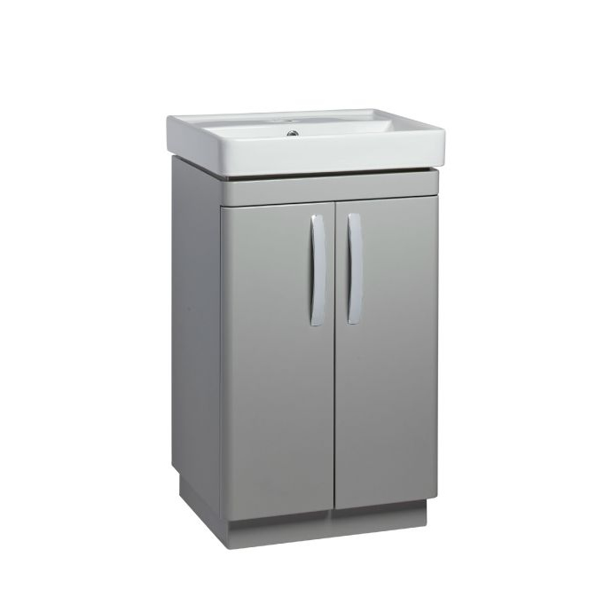 Tavistock Compass 500mm Freestanding Basin Unit Gloss Light Grey