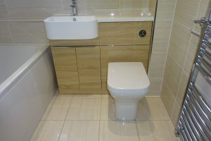 Tavistock Match 1000mm combined toilet and basin with semi countertop & back to wall toilet pan