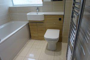 Tavistock light oak match storage basin and toilet unit
