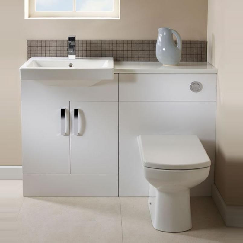 gloss gloss modular bathroom. Tavistock Courier Combined Basin Toilet Unit In Gloss White Modular Bathroom