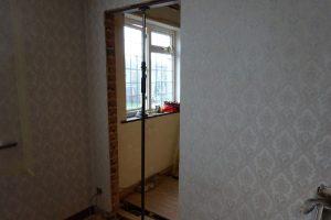 Doorway cut into master bedroom wall into ensuite bathroom