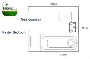 Fitted Ensuite Bathroom Floor Plan Greville Road Kenilworth