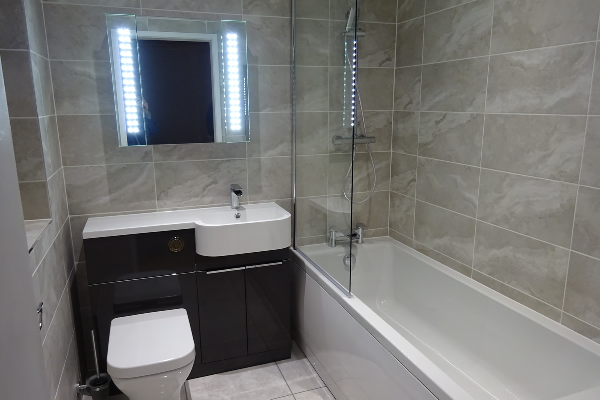 British ceramic tile roundhay grey bathroom tile earlsdon bathrooms convert a bedroom to an ensuite bathroom on greville rd kenilworth dailygadgetfo Images