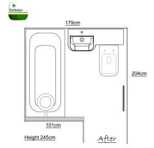 New bathroom design with tavistock match vanity basin and toilet unit