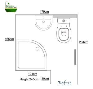 Original bathroom design layout