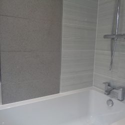 British Ceramic Tile Serpentine Tile Grey Wall 300mm x 600mm with Feature Wall Tile