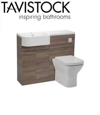 Tavistock Match 1000mm Basin Toilet Unit Havana oak