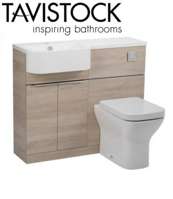 Tavistock Match 1000mm Basin Toilet Unit Oregon Oak