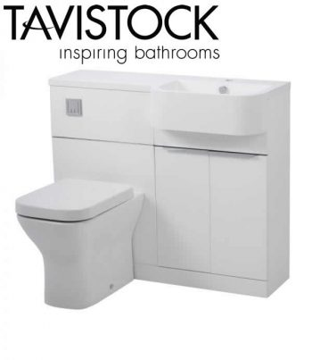 Tavistock Match 1000mm Basin Toilet Unit gloss white