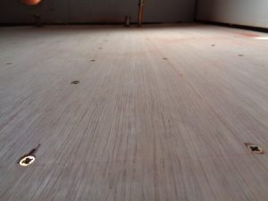 Bathroom floor ply with 15cm Centres