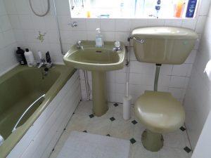 The original bathroom on Frilsham way Coventry