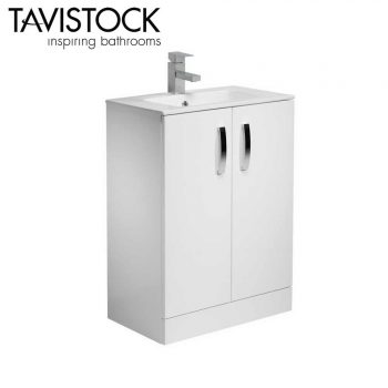 Tavistock Swift freestanding Storage Vanity Basin Unit 600mm Wide White