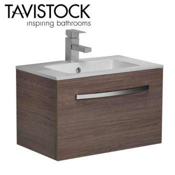 Tavistock Swift wall mounted Storage Vanity Basin Unit 600mm Wide Montana Gloss