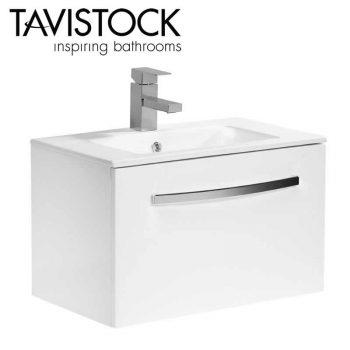 Tavistock Swift wall mounted Storage Vanity Basin Unit 600mm Wide White