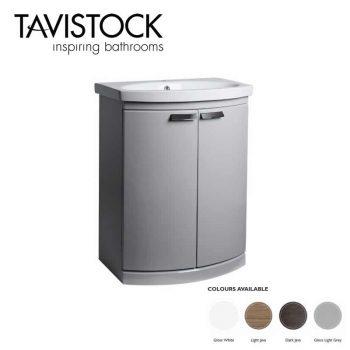 Tavistock Tempo Freestanding Vanity Basin 650mm Gloss Grey