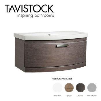 Tavistock Tempo Vanity Wall mounted Basin 900mm Dark Java