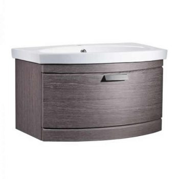 Tavistock Tempo Vanity Wall mounted Basin 650mm Dark Java