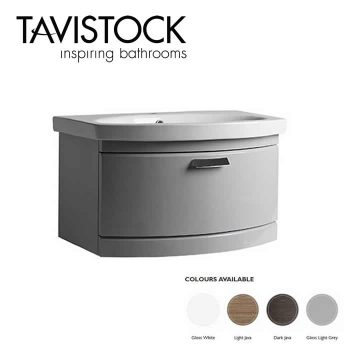 Tavistock Tempo Vanity Wall mounted Basin 650mm Gloss Grey