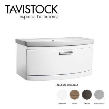 Tavistock Tempo Vanity Wall mounted Basin 900mm White Gloss
