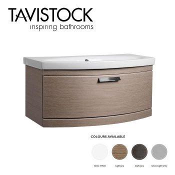 Tavistock Tempo Vanity Wall mounted Basin 900mm Light Java