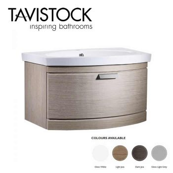 Tavistock Tempo Vanity Wall mounted Basin 650mm Light Java