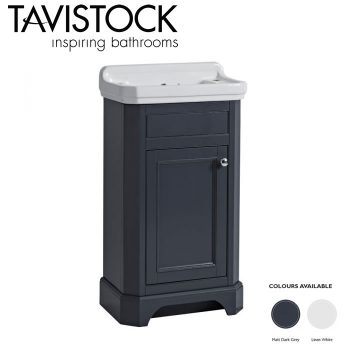 Tavistock Vitoria 500 Freestanding Vanity Basin Unit Matt Dark Grey
