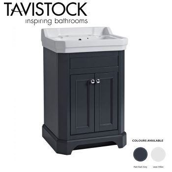 Tavistock Vitoria 600mm Freestanding Basin Vanity Unit Matt Dark Grey
