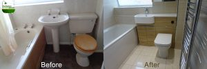 Before and after bathroom images Bishops Tachbrook Leamington Spa