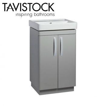 Tavistock Compass 500mm Freestanding Basin Unit Gloss Light Grey