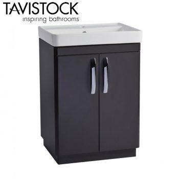 Tavistock Compass 600mm Freestanding Basin Unit Gloss Clay