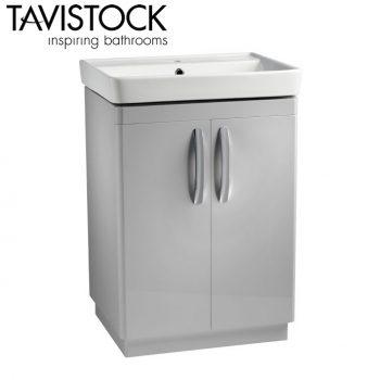 Tavistock Compass 600mm Freestanding Basin Unit Gloss Light Grey