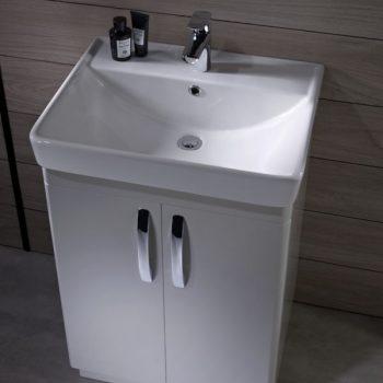Tavistock Compass 600mm Freestanding Basin Unit Gloss White