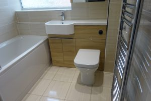 Tavistock light oak match storage basin and toilet unit