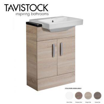 tavistock courier 600 Semi Countertop basin Unit Oregon Oak