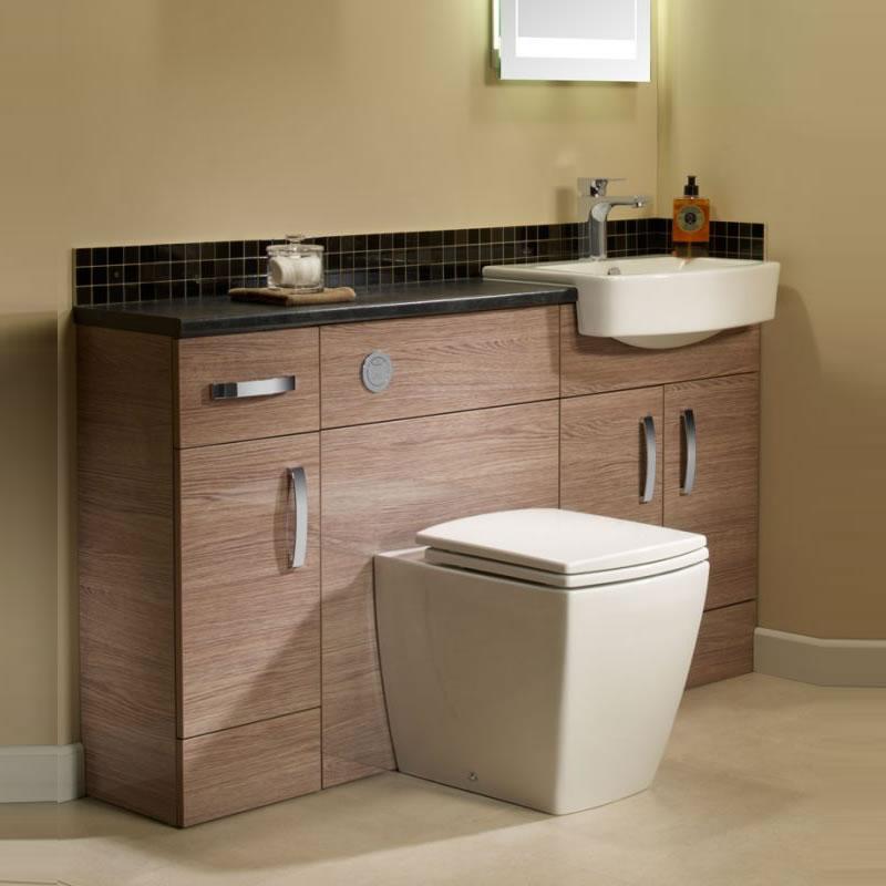 Tavistock courier combined basin toilet cupboard unit Montana gloss