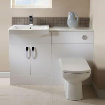 tavistock courier combined basin toilet unit in gloss white