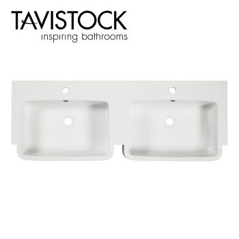 Tavistock courier double basin unit