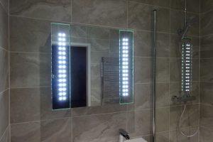Bathroom led mirror cabinet