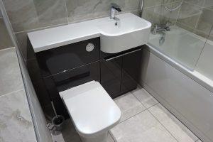 Tavistock Match Vanity Basin in Gloss Clay with a Tavistock Structure Toilet Pan in Gloss Clay