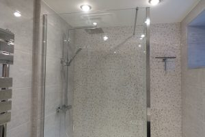 Walk in glass shower screen