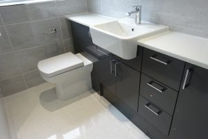 Bathroom fitted with Graphite Grey Fitted Bathroom Furniture