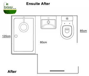 New Ensuite design with larger shower area