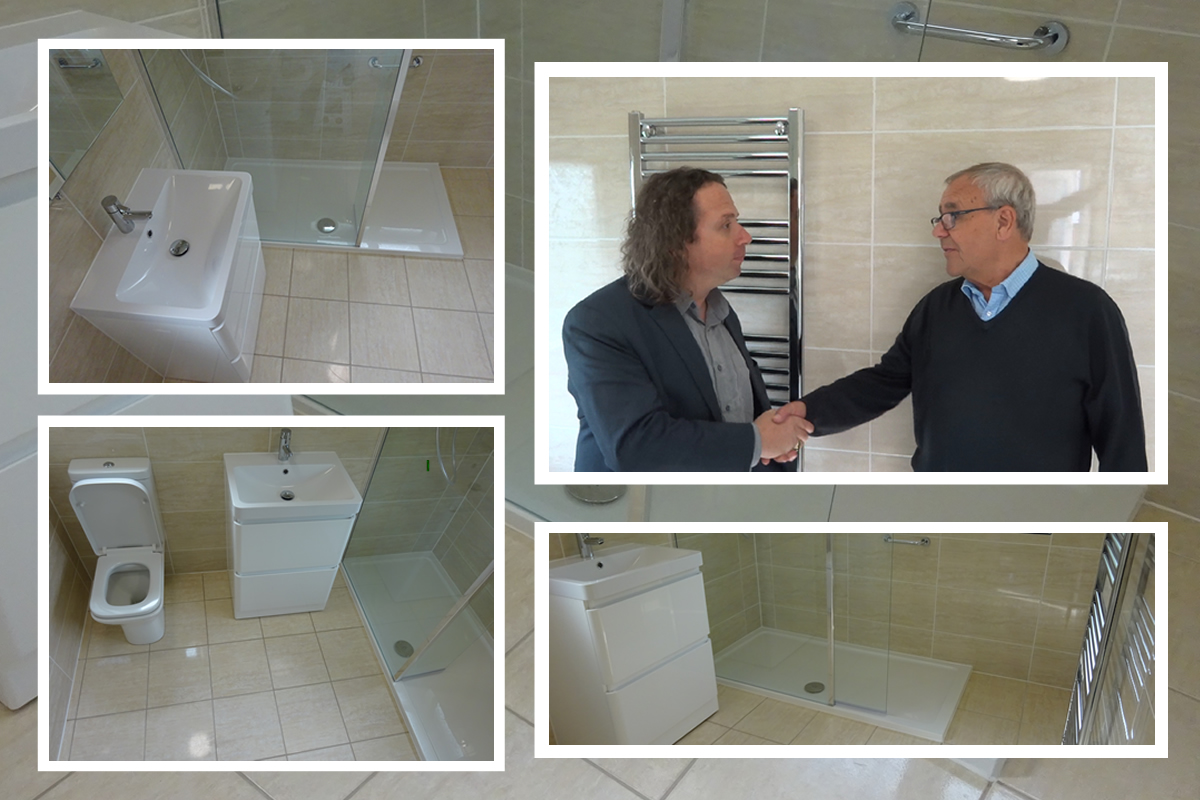 Review from Neville following Bathroom to Shower room