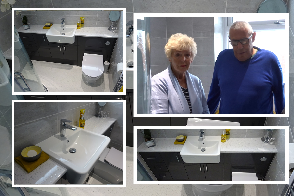 Veronica and Roger providing Earlsdon Bathrooms with a Review