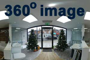 Earlsdon Bathrooms inside the front of the Showroom