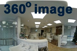 Earlsdon Bathrooms inside the showroom 360 degree image front left