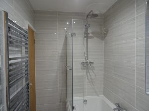 Bathroom fitted with wall mounted thermostatic shower Thamley Rd Coventry